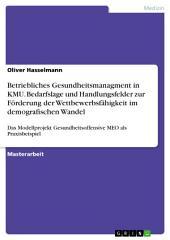 Betriebliches Gesundheitsmanagment in KMU. Bedarfslage und Handlungsfelder zur Förderung der Wettbewerbsfähigkeit im demografischen Wandel: Das Modellprojekt Gesundheitsoffensive MEO als Praxisbeispiel