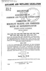 Estuarine and Wetlands Legislation