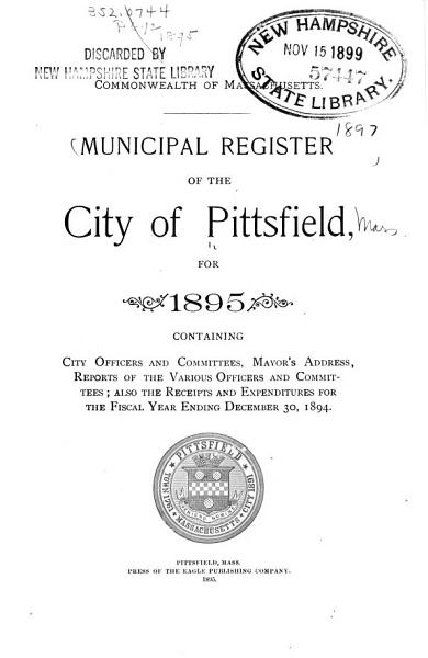 Download Municipal Register of the City of Pittsfield     Book