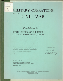 Military Operations of the Civil War  Main Eastern theater of operations PDF