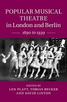 Popular Musical Theatre in London and Berlin PDF