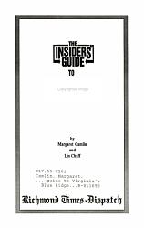 Insiders Guide To Virginia S Blue Ridge Book PDF