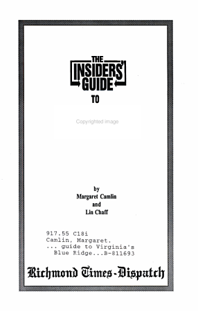 Insiders Guide to Virginia s Blue Ridge PDF