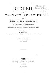 Recueil de travaux relatifs à la philologie et à l'archeologie égyptiennes et assyriennes: Volume23