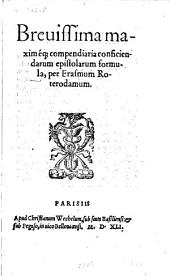 Brevissima maximéque compendiaria conficiendarum epistolarum formula