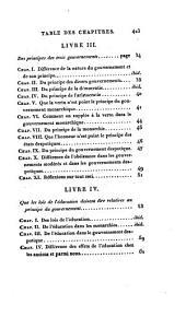 Oeuvres complettes de Montesquieu: précédées de la vie de cet auteur, Volume1