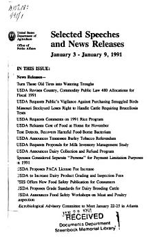 Selected Speeches and News Releases PDF