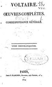 Oeuvres complètes: Correspondance générale [4], Volume35