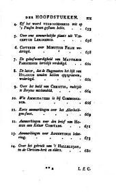 Lectiones historico-ecclesiasticae, ofte vermaakelijkheden uit de kerkgeschiedenes
