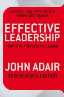 Effective Leadership  NEW REVISED EDITION  PDF