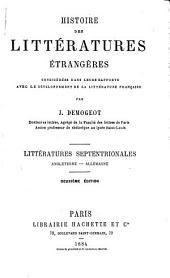 Histoire des littératures étrangères considérées dans leurs rapports avee le développement de la littérature frana̧ise: Littératures septentrionales: Angleterre, Allemagne