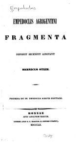 Empedoclis Agrigentini fragmenta disposuit