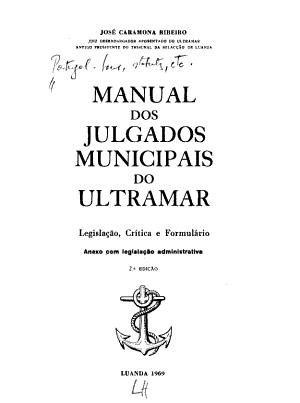 Manual dos julgados municipais do ultramar PDF