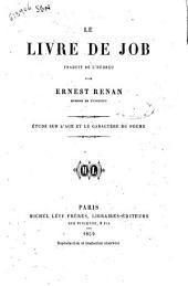 Le livre de Job étude sur l'age et le caractère du poeme par Ernest Renan