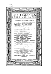 The Classics, Greek & Latin: Volume 14