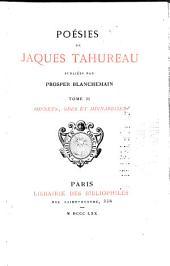 Poésies de Jaques Tahureau: Sonnets, odes et mignardises