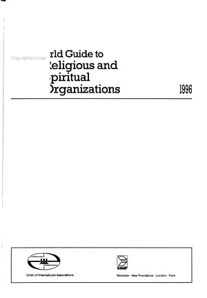 World Guide to Religious and Spiritual Organizations PDF