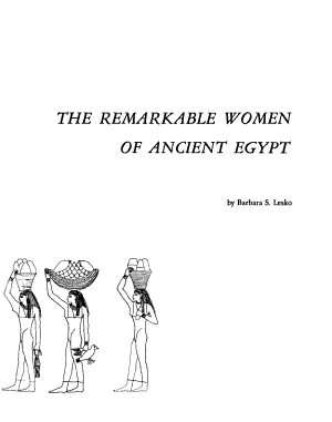 The Remarkable Women of Ancient Egypt PDF