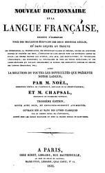 Nouveau dictionnaire de la langue fran  aise PDF