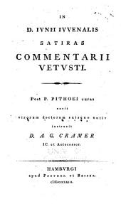 In D. Iunii Iuvenalis Satiras commentarii vetusti