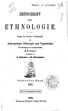 Zeitschrift fur Ethnologie PDF