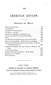 The American Whig Review ...: Volume 5, Issue 3