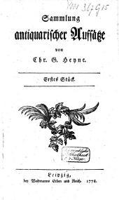 Sammlung antiquarischer Aufsätze: Band 1