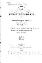 The Percy Anecdotes: Conviviality