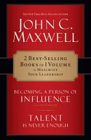 Maxwell 2 in 1 Becoming a Person of Influence   Talent Is Never Enough PDF