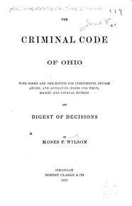 The Criminal Code of Ohio     PDF