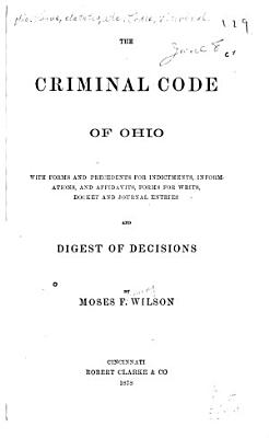 The Criminal Code of Ohio     PDF