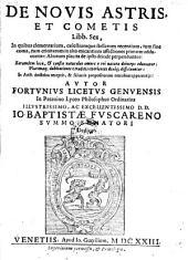 De novis astris et cometis Libb. Sex