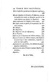 Cours de mathématiques: ptie. L'algebre et l'application de cette science à l'arithmétique et à la géométrie