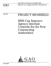 Project BioShield: HHS Can Improve Agency Internal Controls for Its New Contracting Authorities