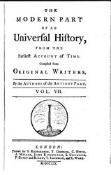 The Modern Part Of An Universal History Book PDF
