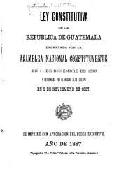 Ley constitutiva de la República de Guatemala
