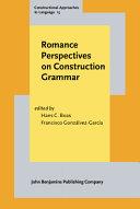 Romance Perspectives on Construction Grammar PDF