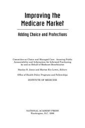 Improving the Medicare Market: Adding Choice and Protections