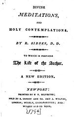 Divine Meditations and Holy Contemplations. Third edition, corrected. With a preface by E. Culverwell