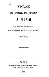 Voyage ...: à Siam suivi de quelques détails extraits des mémoires de l'abbé de Choisy (1685-1688)