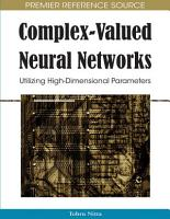 Complex Valued Neural Networks  Utilizing High Dimensional Parameters PDF