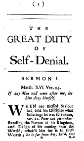 The Great Duty and Benefit of Self-denial: By a Minister of the Church of England, Volume 3