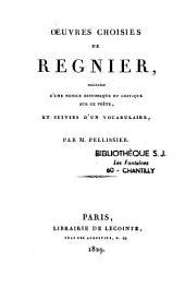 Oeuvres choisies de Régnier....