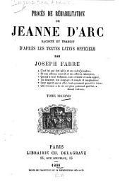 Procès de réhabilitation de Jeanne d'Arc: Volume2