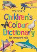 Children s Colour Dictionary PDF