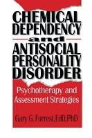 Chemical Dependency and Antisocial Personality Disorder PDF