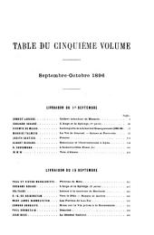 La Revue de Paris: Volume3;Volume5