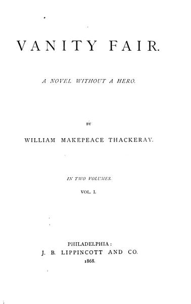 Download The Works of William Makepeace Thackeray   in 22 Volumes  Vanity fair Book