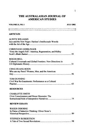 Australasian Journal of American Studies PDF