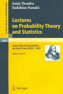 Lectures on Probability Theory and Statistics PDF